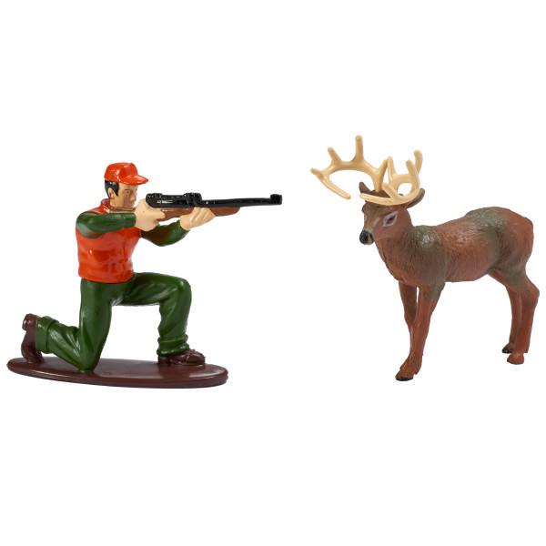 Cake Topper Deer Hunter And Buck