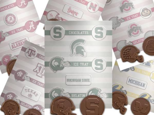 NCAA College Football Chocolate Candy Mold Virginia Tech Hokies