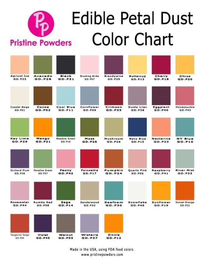 Edible Petal Dust Pristine Powders Choose Color