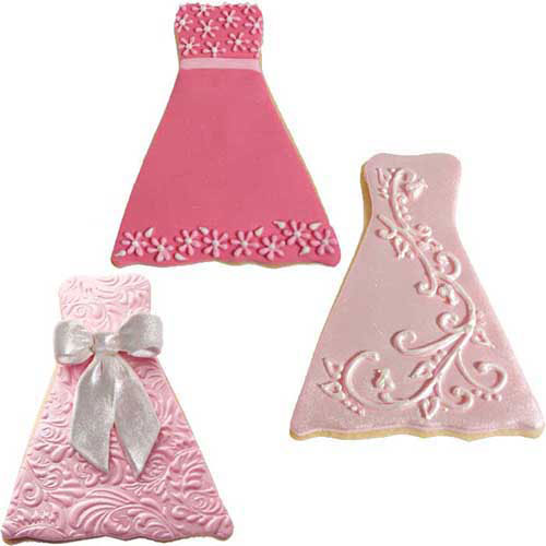 Cookie cutter texture set – Wedding Formal Dress – Cake Connection