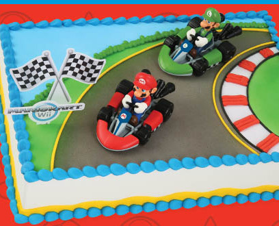 Mario Brothers Racecar Cake Topper Kit Cake Connection