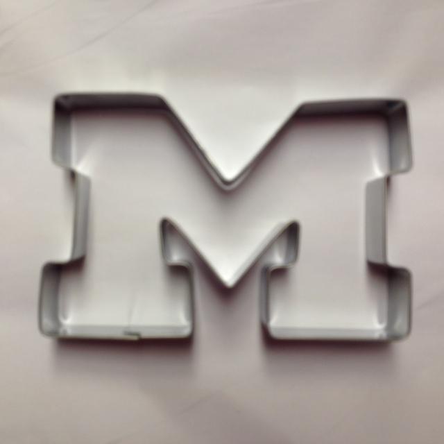 Stainless Steel Cookie Cutter - Varsity Block M