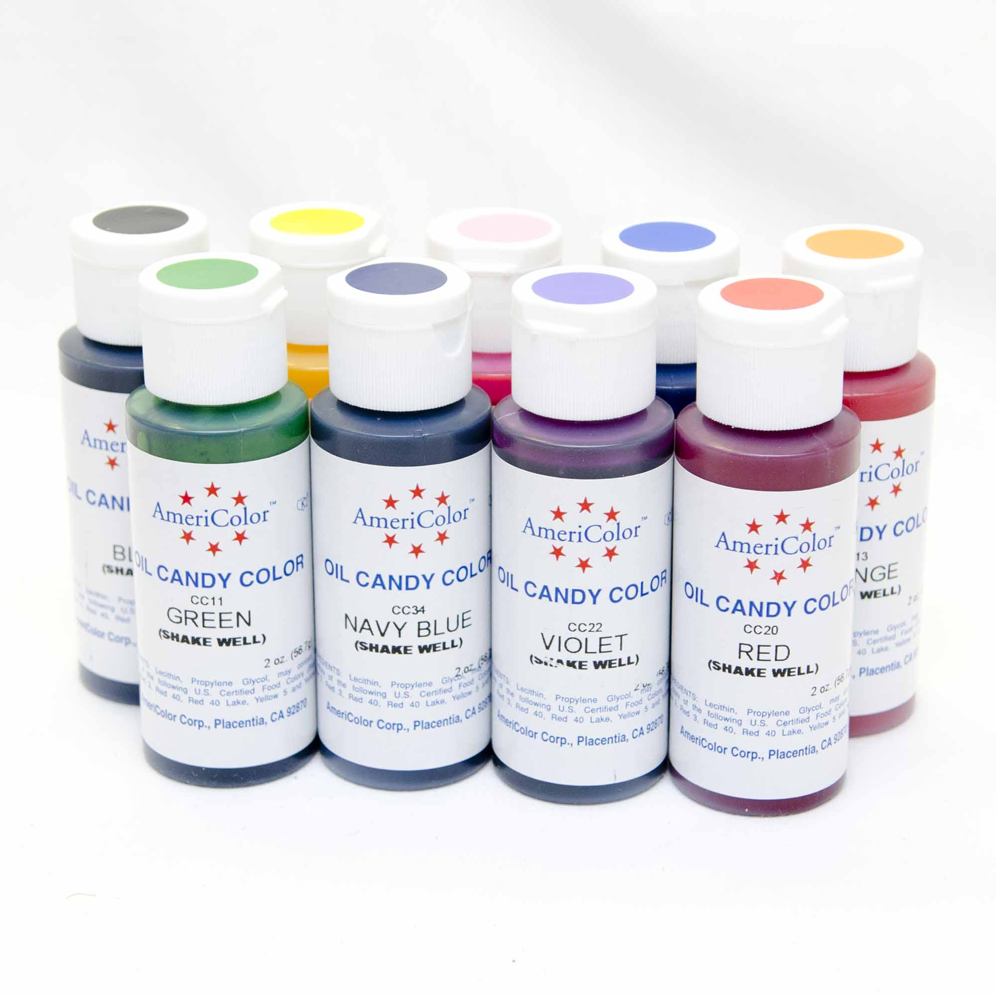 Americolor Oil Based Candy Color – 2 oz (choose color) | Cake ...