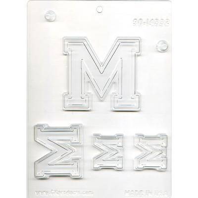 Varsity font candy mold - Letter M