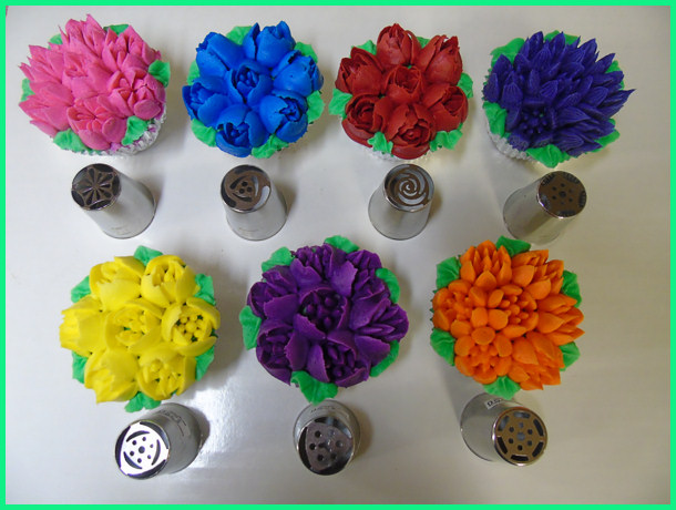 Piping Icing Tip Russian Tip 249 Daisy 16 Petal Cake