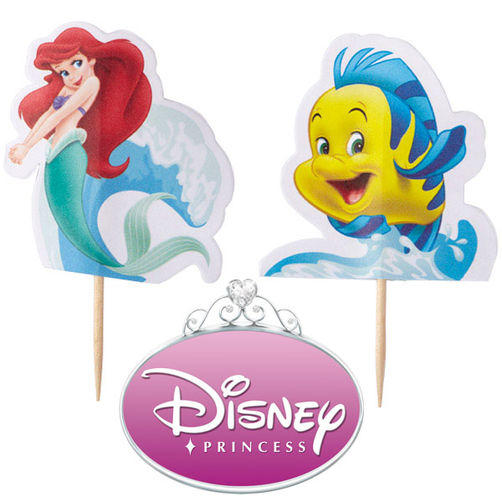 Little Mermaid Fun Pix Cupcake Toppers Cake Connection