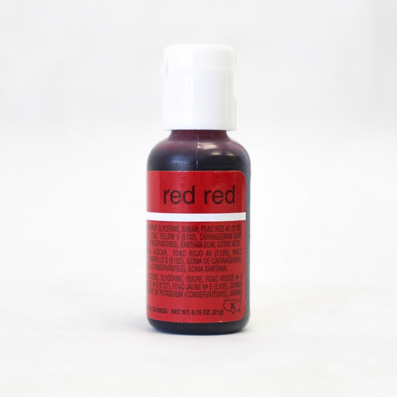 Chefmaster Liqua-Gel Paste Food Color .70oz - Red Red