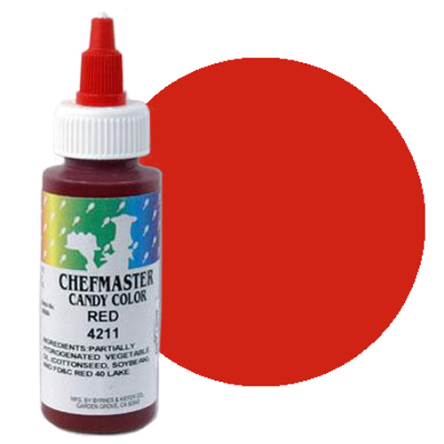 Chefmaster Candy Chocolate Food Color 2oz – Red – Cake Connection